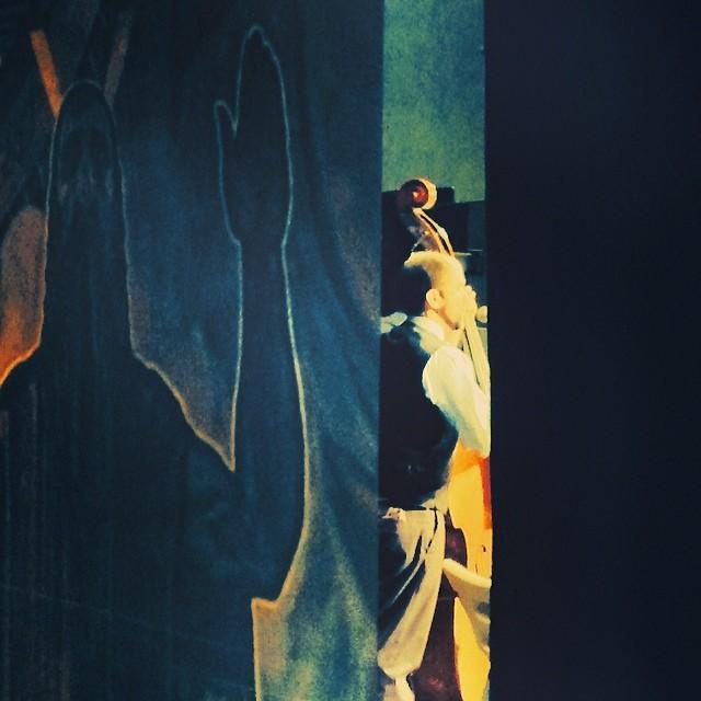 Yiddish Art Trio in LA #backstage #voyleryat #benjyfoxrosen #winograd #patrickfarrell