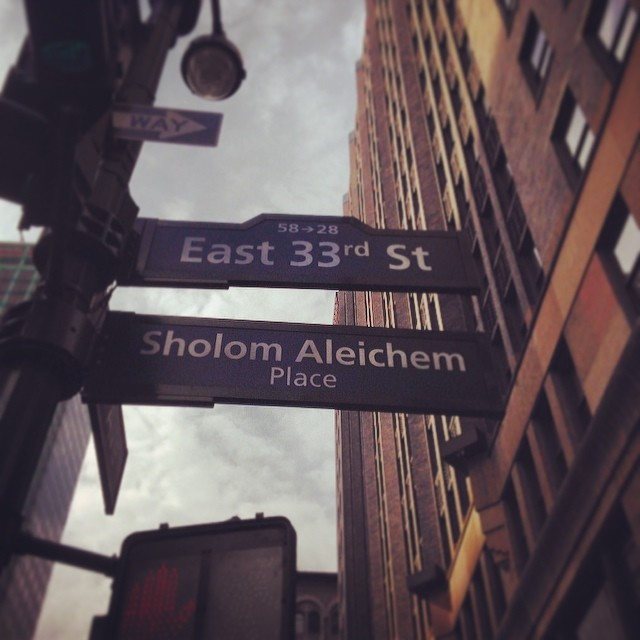 Happy birthday, #SholemAleichem! We managed to get a street named after you for your day! #hbd #yiddish #nyc