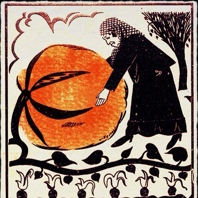 This is a woodcut illustration from Leyb Kvitko's children's book
