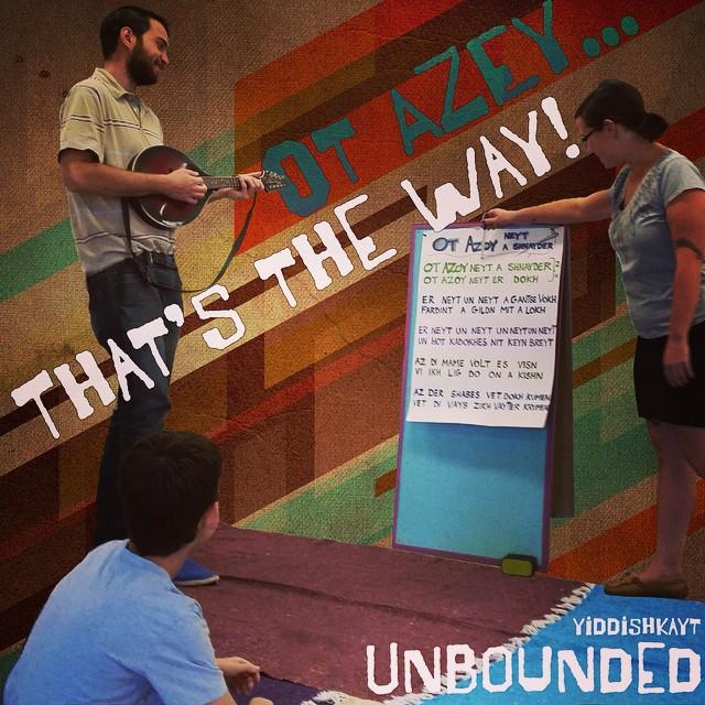 !אט אזוי Ot azey! Our UNBOUNDED program is the way to give LA kids the tools to see and shape their world through Yiddishkayt. Check it out: http://yiddi.sh/unbndLA #unboundedLA #yugntumbagrenetst #יוגנטאומבאגרענעצט #otazey #shnayderay